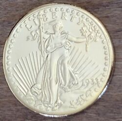Copy 1933 Us Double Eagle Walking Liberty 20 24k Gold Plated Coin