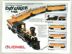 Lionel Virginia And Truckee Railroad Dry Gulch Line 8.5 X 11 Flyer Model Trains