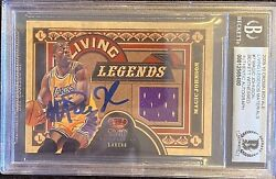 2009 Crown Royale Living Legends Magic Johnson 7-hand Signed-beckett Witnessed