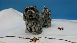 Heavy Shaggy Dog Paper Weight-over 1 Pound-its A Sold Metal-3 1/8 L X 2 1/8 T