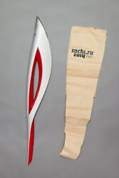 Sochi 2014 Torch Relay Original + Bag Olympics In Russia Exclusive Very Rare