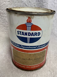 Vintage Standard Oil Company Sales Department Sample One Pound Grease 1 Can