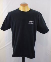 Mustang Embroidered Logo 100 Cotton Extra Large Black T Shirt