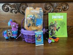 35pc Fortnite Gift Basket Action Figure Weapon Plush Llama Book Party Favors Toy