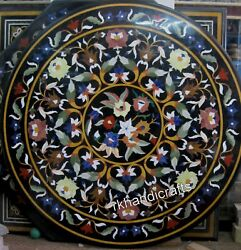 Hand Crafted Elegant Pattern Dining Table Top Round Marble Restaurant Table Top