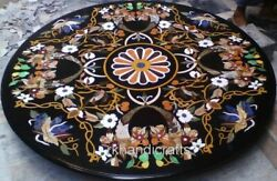 Unique Restaurant Table Top Round Marble Dining Table Cottage Crafts From India