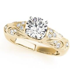 Brilliant Cut 0.70 Ct Natural Diamond Engagement Ring 14k Yellow Gold Size 5 6 7