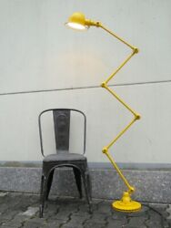 Vintage French Modernist Industrial Jielde Reading Desk Lamp 5 Arms Yellow