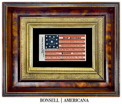 13 Star Antique Flag With A Hop Bitters Overprint   Circa 1872-1890