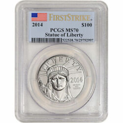 2014 100 1 Oz Platinum American Eagle Pcgs Ms70 First Strike Better Date