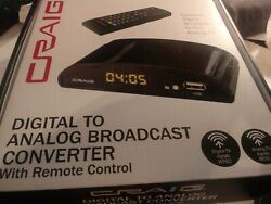 Craig Digital To Analog Broadcast Converter with Remote Control CVD509n NEW