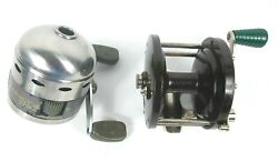 Lot Of 2 Vintage Fishing Reels Penn 85 And Shakespeare Synergy Steel 2001s