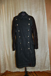 Christian Dior Boutique Women's Coat Canvas/leather Rabbit Sz Us12 Made In Italy