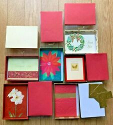 70 Vintage Papyrus Blank Thank You Boxed Cards Holiday Christmas Foil Glitter