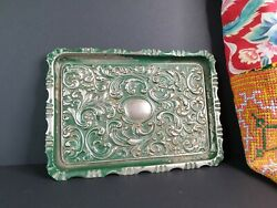Old Silver-plated Ornate Serving Tray Andhellipbeautiful Accent And Collection Piece