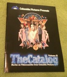 1981 Columbia Pictures Vhs The Catalog Vol Ii Horror Sci Fi Collectible Rare