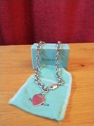 And Co Silver Necklace Heart Choker Heavy Solid Silver - Will Authenticate
