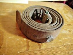 Wwii M/96 Swedish Or German K98 Mauser Leather Rifle Sling