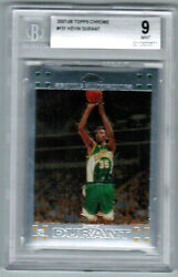 2007-08 Topps Chrome 131 Kevin Durant Brooklyn Rookie Mint Bgs 9