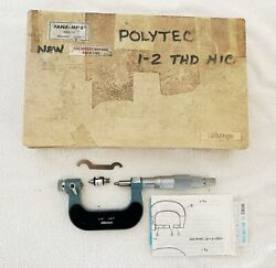 Mitutoyo 116-106 Anvil Pana Micrometer 1-2 .001 Ratchet Stop Thread Pitch