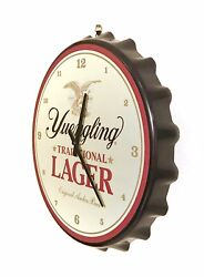 Yuengling Lager Clock - Large 18 Inch Bottle Cap Clock - Made In Usa