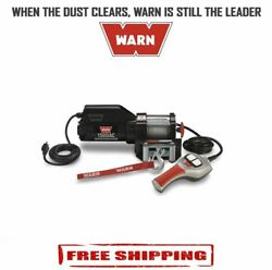 Warn 1,500 Lbs Portable Utility Winch W/ 43' Wire Rope And Roller Fairlead - 85330