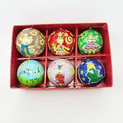 6 Crate And Barrel Hand Painted Whimsical Mouse Nutcracker Ballet Ornaments