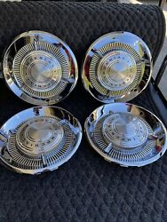 Oem 1960 Imperial Hubcaps Like New show Car Ready Concourse Winner 🥇🏆🇺🇸