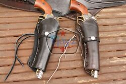 New 44/45 Right Hand Smooth Holster Leather Western Rig Gun Belt Drop Loop Sass