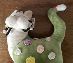 Whimsy Clay Amy Lacombe Rosette Cat Roses Flowers 14 Plush Stuffed Animal