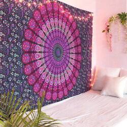 Oussum Twin Mandala Tapestry Wall Hanging Art Indian Cotton Bedspread Tapestries