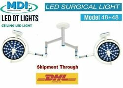 Model 48+48 Examination Ot Surgical Led Light Cold Light For Operation Theater