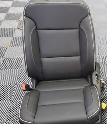 New 2019 Chevy Silverado 1500 2500 3500 Crew Cab Leather Black Seat Covers Oem