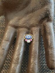 Vintage 10k Gold Real Diamonds And Rubies Service Pin Tie Tack No Back
