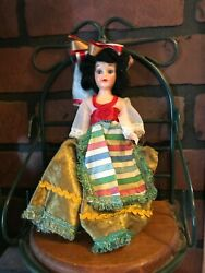 Vintage Doll Arco Gas Give Away Doll Brunnette 8 Inches Tall