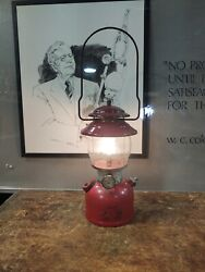 Coleman 1978 Lantern Red 200a With Globe Camping Dated 6/78 Tested Works