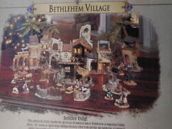 Noel Granduer 2001 Bethleham Village Christmas Collectible Villages And Houses