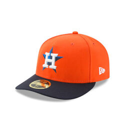 Houston Astros New Era On-field Low Profile Alt 59fifty Fitted Hat-orange/navy