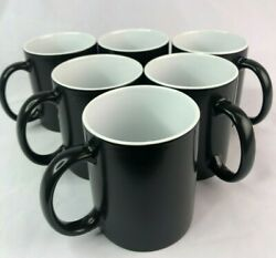 6pcs 11oz Blank Sublimation Full Color Changing Mugs Magic Cup Black/glossy