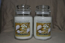 Yankee Candle Lot of 2 Large Jars Sandalwood Vanilla
