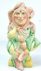 Royal Doulton Pair Toby Jugs And039the Jesterand039 D6063 And And039lady Jesterand039 D7110 Ltd Edt