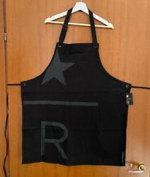 Starbucks Reserve Black Apron With R And Star Limited Edition
