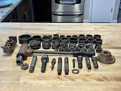 54 Piece Collection Greenlee Knockouts 2andrdquo- 5/8andrdquo W/ Tools 704 And 1804 Puller Lot