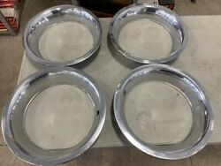 4 - 15 Corvette Trim Rings With Tab Mounting - 3 Deep