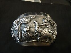 Vintage Sterling Silver Bowl Like With Pictures All The Way Around--190 Grams Of