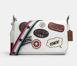 Coach Marvel Jes Messenger In Signature Canvas Patches Limited Edition NWT $398 $298.00