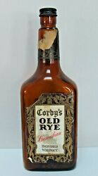 Corby's Old Rye Canadian Bonded Whiskey Brown Bottle Empty 25 Oz Corbyville On