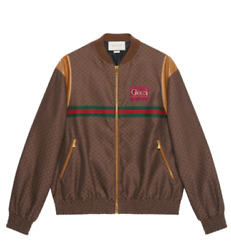 Gg Logo Zip Jacket Bomber / With Tags- Rrp3900 Aud