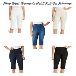 Nine West Womenand039s Heidi Pull-on Skinny Skimmer Various Colors And Sizes New