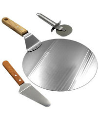 3 Pc Set, Stainless Steel Pizza Peel, Pizza Cutter Wheel And Pizza Shovel A M9
